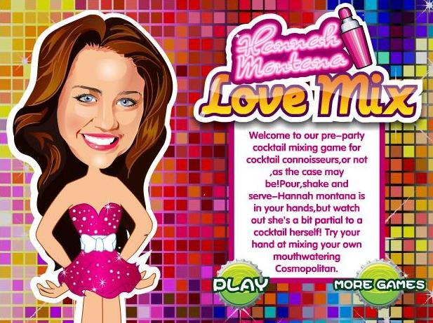 the game hannah montana love mix